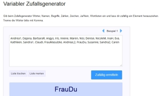 Auslosung Gewinner FrauDu
